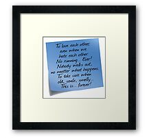 Grey's Anatomy -  Post-it! Framed Print