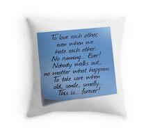 Grey's Anatomy -  Post-it! Throw Pillow