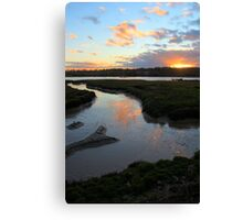 Sunset over the Colne Canvas Print