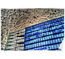 steel and glass, HDR photo Poster