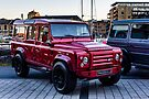 Red Carbon Fibre Bodied LandRover by MarcW