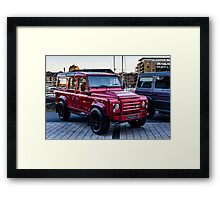 Red Carbon Fibre Bodied LandRover Framed Print