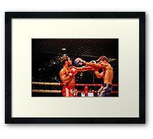 Fight Night Framed Print