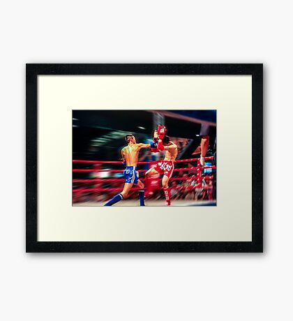 the Knockout Punch Framed Print