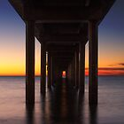Under Brighton Jetty Sunset by Madelaine Bleckly