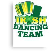 Irish Dancing Team with top hat and accordion Canvas Print
