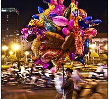 Saigon Ben Thanh Roundabout by Gwill