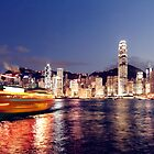 Hongkong on clear day by Hakai Matsu