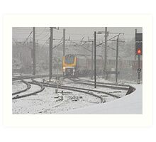 Winter on the East Coast Main Line, England ( 3 Features ) Art Print