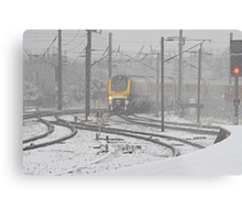 Winter on the East Coast Main Line, England ( 3 Features ) Metal Print