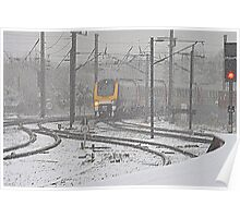 Winter on the East Coast Main Line, England ( 3 Features ) Poster