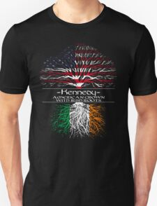 Kennedy - America Grown with Irish Roots Unisex T-Shirt