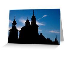 Prague Silhouette Greeting Card