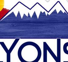 Lyons Colorado wood mountains Sticker