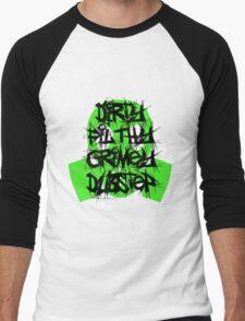 Dirty, Filthy, Grimey Dubstep Men's Baseball ¾ T-Shirt