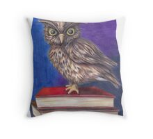 Archimedes the Owl Throw Pillow