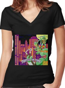 In Time Women's Fitted V-Neck T-Shirt