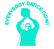 Everybody Dance Now - Custom Blue Photographic Print
