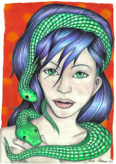 Woman with Snakes by sarahpittman