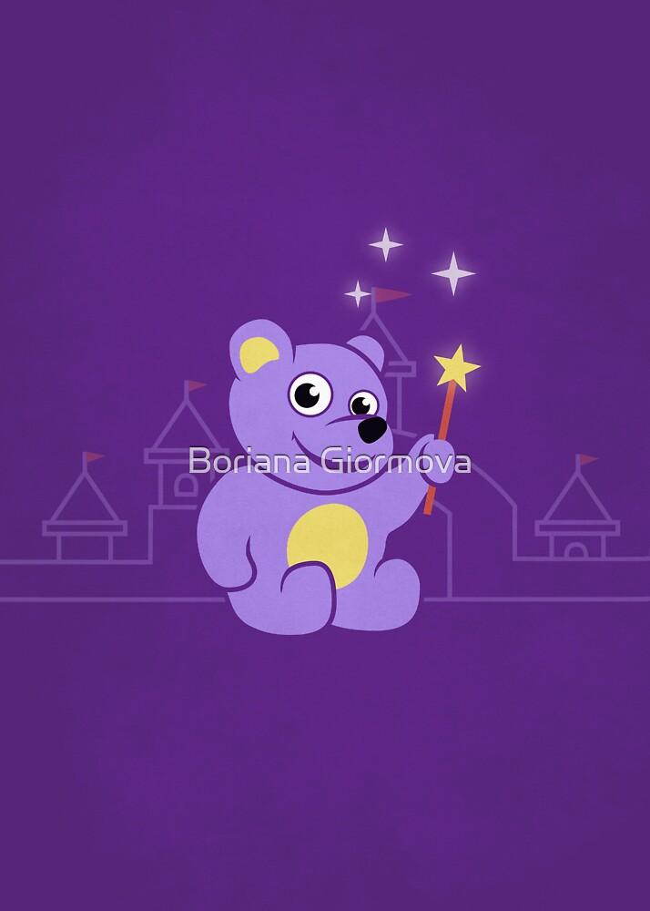 Purple Cartoon Teddy Bear Fairy by Boriana Giormova