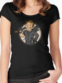 Warrior of the Road (sticker) Women's Fitted Scoop T-Shirt