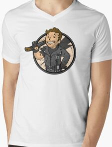 Warrior of the Road (sticker) Mens V-Neck T-Shirt