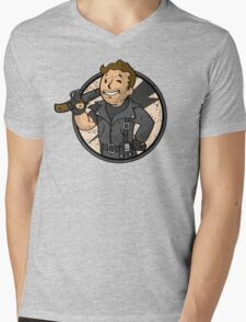 Warrior of the Road (sticker) Mens V-Neck T-Shirt
