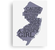 Jersey Girl Canvas Print