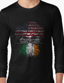 Fitzgerald - American Grown with Irish Roots Long Sleeve T-Shirt