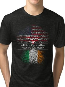Fitzgerald - American Grown with Irish Roots Tri-blend T-Shirt