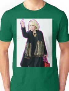 Joan Rivers Flipping Off The Paparazzi Unisex T-Shirt