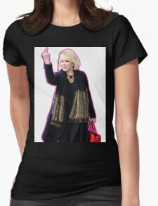 Joan Rivers Flipping Off The Paparazzi Womens Fitted T-Shirt