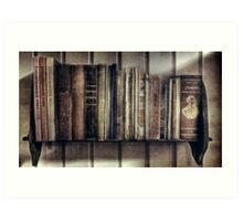 """Ol' Bookshelf"" Art Print"