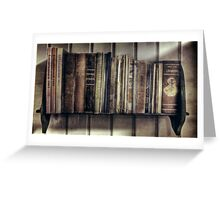 """Ol' Bookshelf"" Greeting Card"