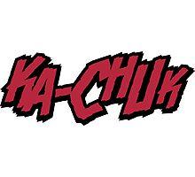 KA-CHUNK - Red Photographic Print