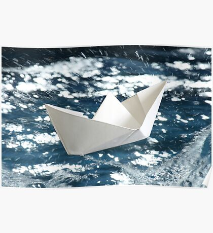 Paper Boat Poster