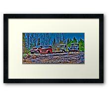 Outed Trucks Framed Print