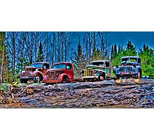 Outed Trucks Photographic Print