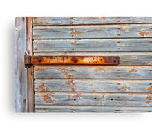 Old barn door texture Canvas Print