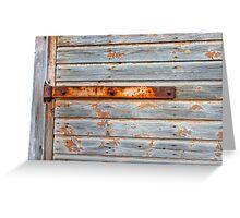 Old barn door texture Greeting Card