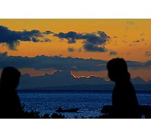 Diners at Sunset Photographic Print