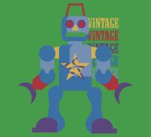 Vintage Toy Robot Design Baby Tee