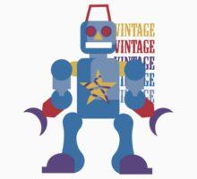 Vintage Toy Robot Design Kids Clothes