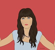 Zooey Deschanel Portrait by nealcampbell
