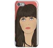 Zooey Deschanel Portrait iPhone Case/Skin