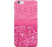 Glitzy Pink Zebra Pattern iPhone Case/Skin