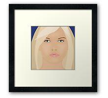 The Blond Returns Framed Print