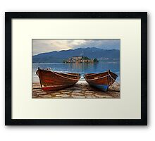 Island of San Giulio Framed Print