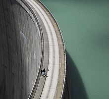 People on the Mooserboden dam by remik