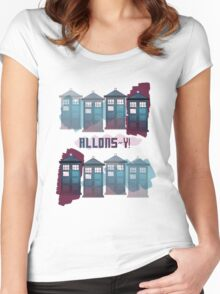 Allons~y!! Women's Fitted Scoop T-Shirt